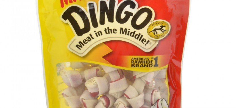 Dingo Brand Dog Rawhide Chews, Mini, White, 26 Count per Pack