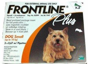 Frontline Plus Dog 0-22 lb - 3 doses