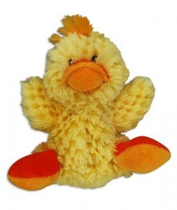 KONG Duck Dog Toy, Small, Yellow