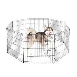 Pet Trex 2205 24 x 24 8 Panel Pen Exercise Playpen for Dogs with