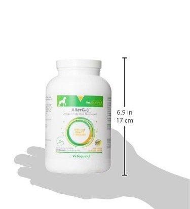 Vetoquinol Vetoquinol 250 Count AllerG-3 Fish Oil Supplement for Dogs,